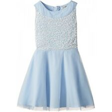 BNWT FRENCH CONNECTION GIRLS SIZE AGE 5-6 PASTEL BLUE SEQUIN DRESS NEXT DAY POST