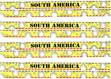 Travel TITLE Scrapbook Stickers **ARGENTINA** South America 4 Sheets