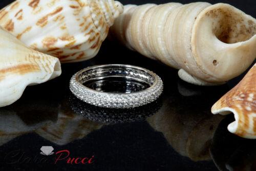 Details about  /1.1ct Round Cut Eternity Designer Bridal Wedding Anniversary Band 14k White Gold