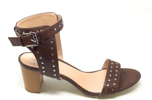 Brinley Co Womens MABEL Ankle Strap Open Toe Sandal Brown Size 11 M US