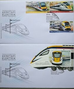 Malaysia FDC with Miniature Sheet & Stamps (20.03.2018) - Electric Train Service