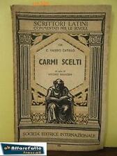 Art 504 LIBRO  CARMI SCELTI C. VALERIO CATULLO Arti Grafiche Rosada  1962