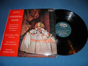 Haydn Theresa Mass George Guest Uk 1st Ed Oval Argo 1965 Lp Stereo Ex Ebay