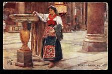 1907 Tuck art by Alberto Pisa interior Ara Coeli Church Rome Italy postcard