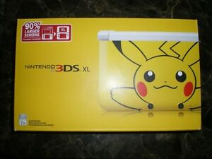 Pikachu-Nintendo-3DS-XL-Rare-Limited-Edition-Brand-New-Sealed