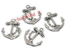 4pz charms ciondoli Ancora colore argento tibet 27x24mm,lead,nickel free