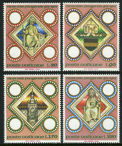 Vatican 541-544, MI 625-628, MNH. Millennium of Prague Latin Episcopal See, 1973