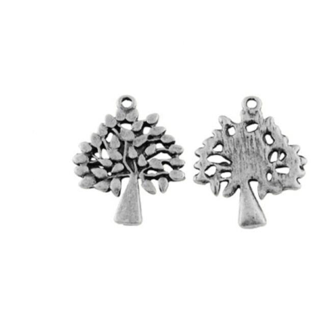 lot de 10 breloques charms pendentifs perle scrapbooking arbre NEUF