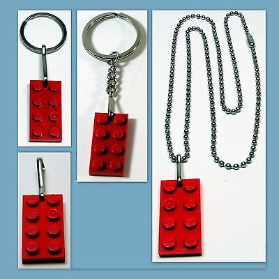 8 LEGO BRICK BLOCK PARTY FAVORS BAG FILLER ZIPPER PULLS  BACKPACK CHARMS GIFTS