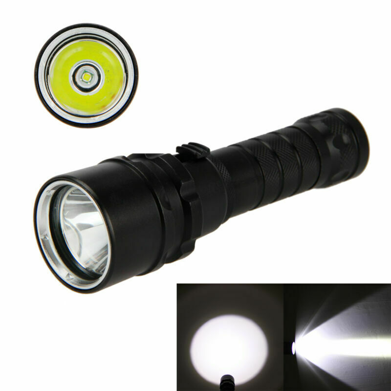 Waterproof Diving Flashlights LED 200m underwater Scuba Diver White Lights Torch