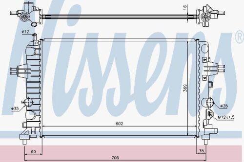 Nissens 63028 A Radiateur Fit OPEL ASTRA H 1.6