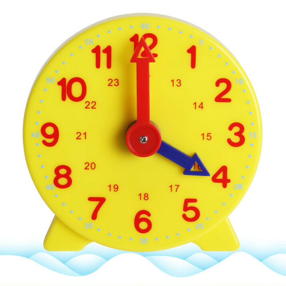 Tell The Time Clock Learning Toy Teaching Number Kids Time Educational Tool