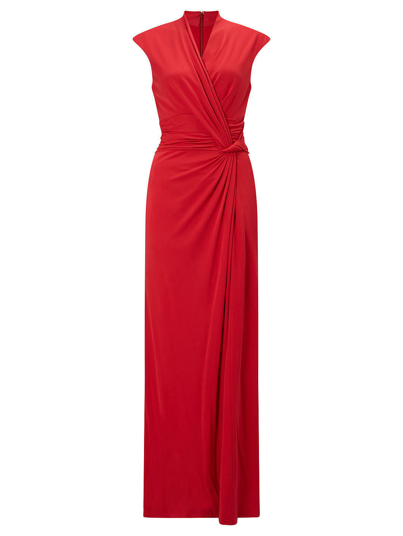 John Lewis Draped Twist Waist Dress, Raspberry - BNWT UK SIze 10 RRP