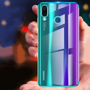 new product 4f4a2 c86dd Details about Luxury Plating Silm Hybrid Clear View Silicone Case Cover For  Huawei Nova 3i/3