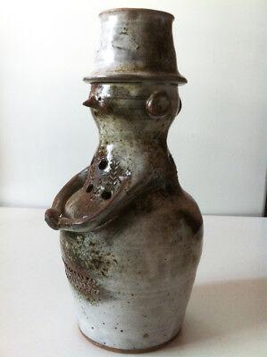 Ancien Vase En GrÈs Anthropomorphe De Thierry & Chantal Robert Gran Surtido