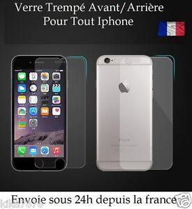 Vitre-protection-Film-Protecteur-Verre-Trempe-AVANT-ARRIERE-iPhone-6-6S-5-4-SE