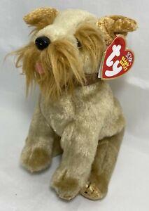 Ty Beanie Baby SCHNITZEL the Dog DOB October 15 2002 Retired Beanbag Plush New