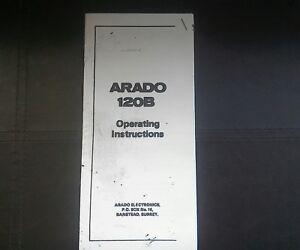 Arado 120b Metal Detector Instructions Copy