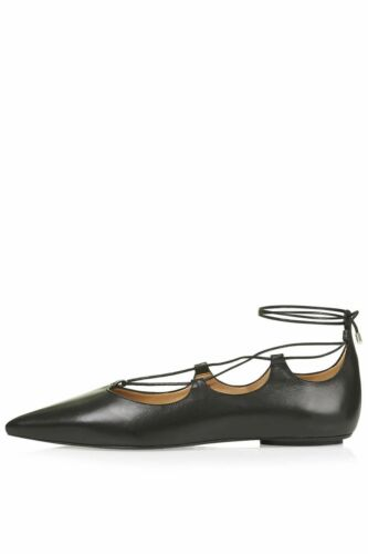 TOPSHOP LEATHER SHOES SIZE UK 6 7 8