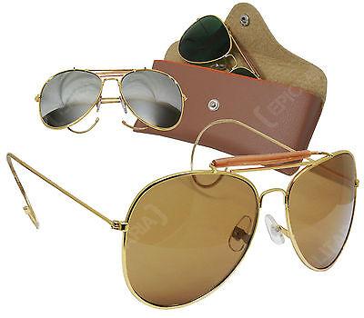 Fiducioso Usaf Piloti Occhiali Da Sole Stile Vintage-colore Opzione-top Gun Aeronautica Nuovo-mostra Il Titolo Originale