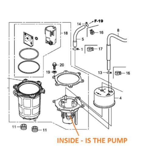 HONDA TRX 680 RINCON 06-19 Fuel Pump Pompa Carburante 16700-HN8-A62 Bomba FILTER