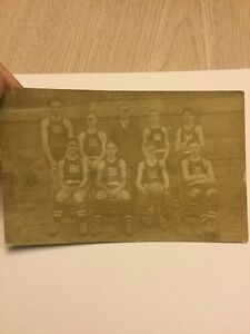 Old Postcard 1900's Basketball Players 1923 BHS High School Early Picture Rare