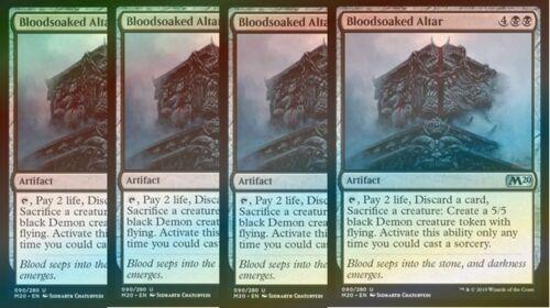 M20 Core Set 2020 Black Uncommon 4x FOIL Bloodsoaked Altar NM