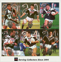 1996 Nz Rugby League Card Superstar Of League 20 Game Club Full Set (13)
