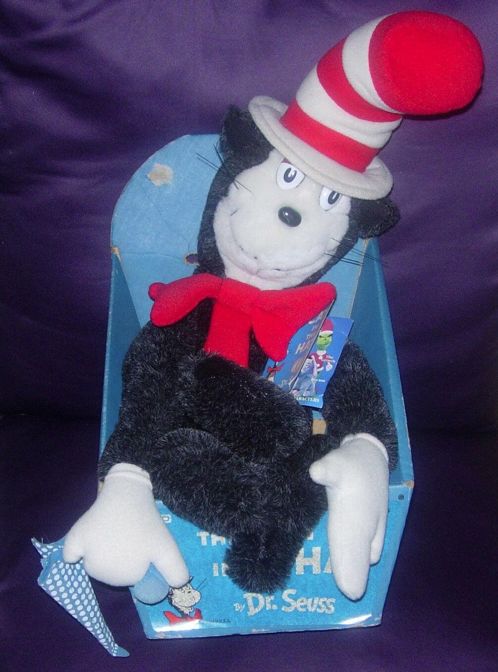 Coleco Gato En El Sombrero De Felpa De 1983 En Caja De Dr. Seuss