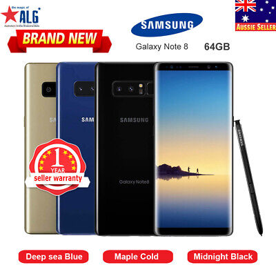 Details about  New in Sealed 6.3″Samsung Galaxy Note 8 N950F 6G/64GB 1Yr Wty  Free Express