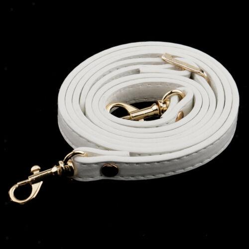 2x Verstellbar PU-Leder Taschengriffe Schulterriemen Trageriemen Riemen Weiß