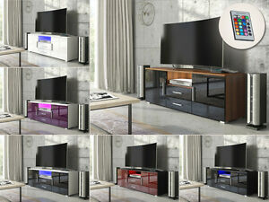 Modern tv unit cabinet sideboard matt body and high gloss for Kitchen cabinets 50cm wide