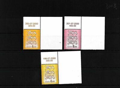 kompl.ausg. FäHig Estland 381-383 Postfrisch Eckrandstücke Mit Ausgabenummer Und Dat Der Preis Bleibt Stabil