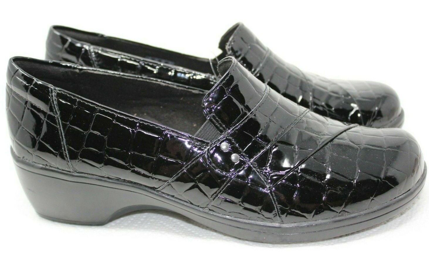 Loafer, Black Croc Sz 7.5 Wide NWOB