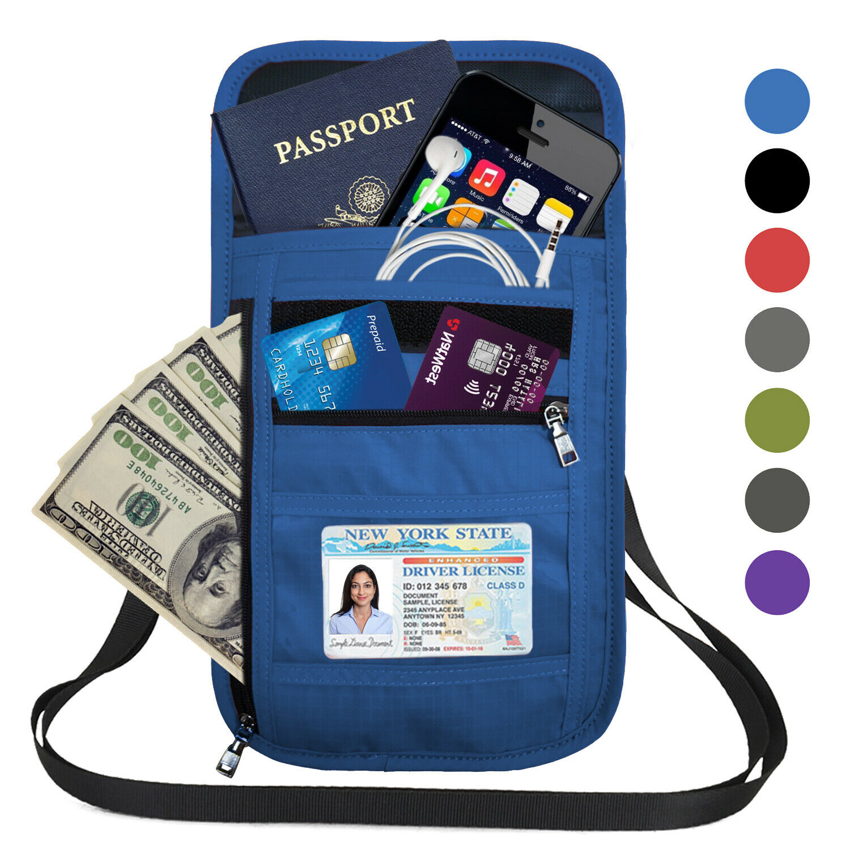 Wen RFID Crossbody Cell Phone Bag Wallet Neck Pouch Shoulder Purse Passport Bag