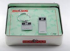 COLIBRI MONOPOLY MONEY CLIP KEY RING SET READING RAILROAD STAINLESS STEEL NIB
