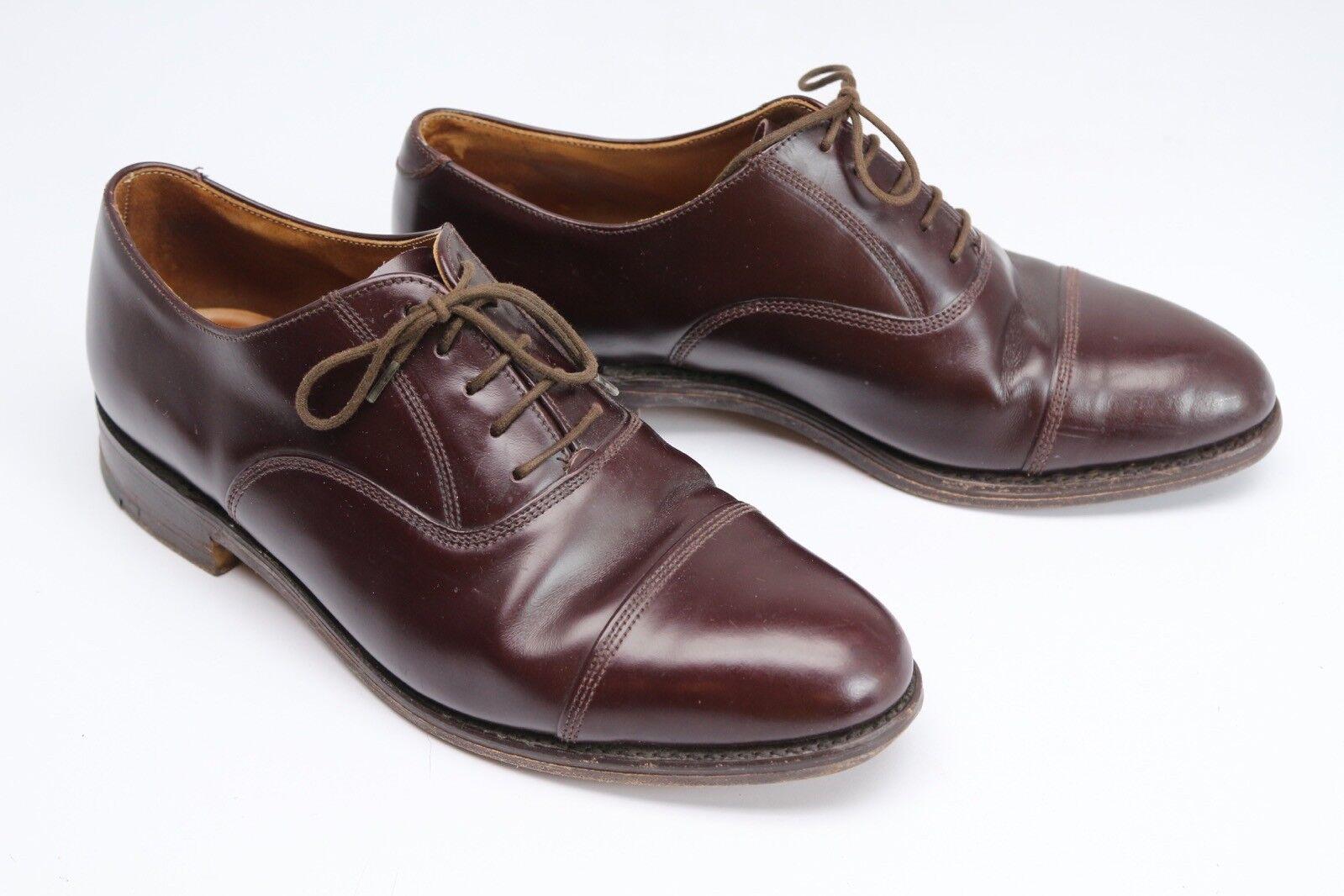 Jones avviolemakers Mens Dress scarpe Alloa  9 D Marronee Leather Cap Toe Oxford Inghilterra  alta qualità generale