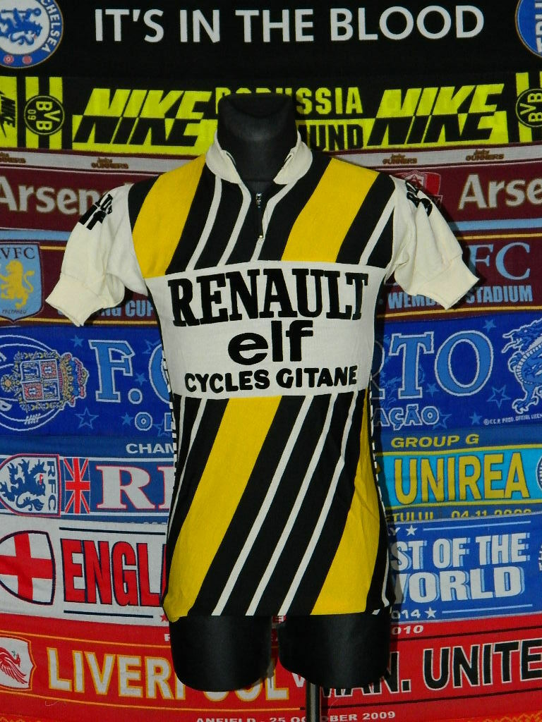 5 5 Renault Campagnolo MINT made in  size 3 vintage retro cycling shirt .