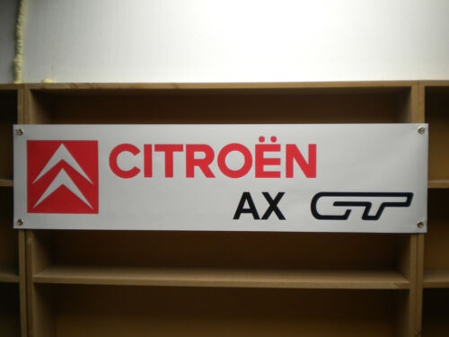 Citroen AX GT workshop banner