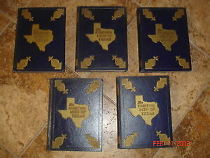 WWII-FIGHTING-MEN-OF-TEXAS-WORLD-WAR-II-5-VOL-SET-INDEX-VETERAN-ESTATE-CHAS-WEST