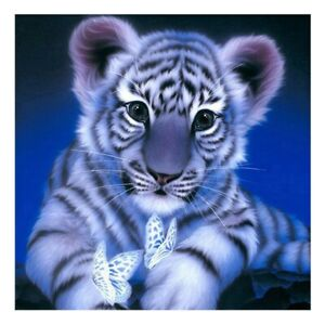 UK Skull Tiger DIY 5D Full Drill Diamond Painting Embroidery Cross Stitch Kit ST