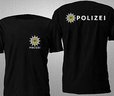 NEW POLIZEI BUNDESPOLIZEI POLICE GERMANY 2 SIDES T SHIRT S-4XL