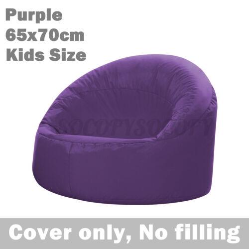 65x70cm Children Bean Bag Cover Lazy Lounger Chair Kids Seat Waterproof Indoor