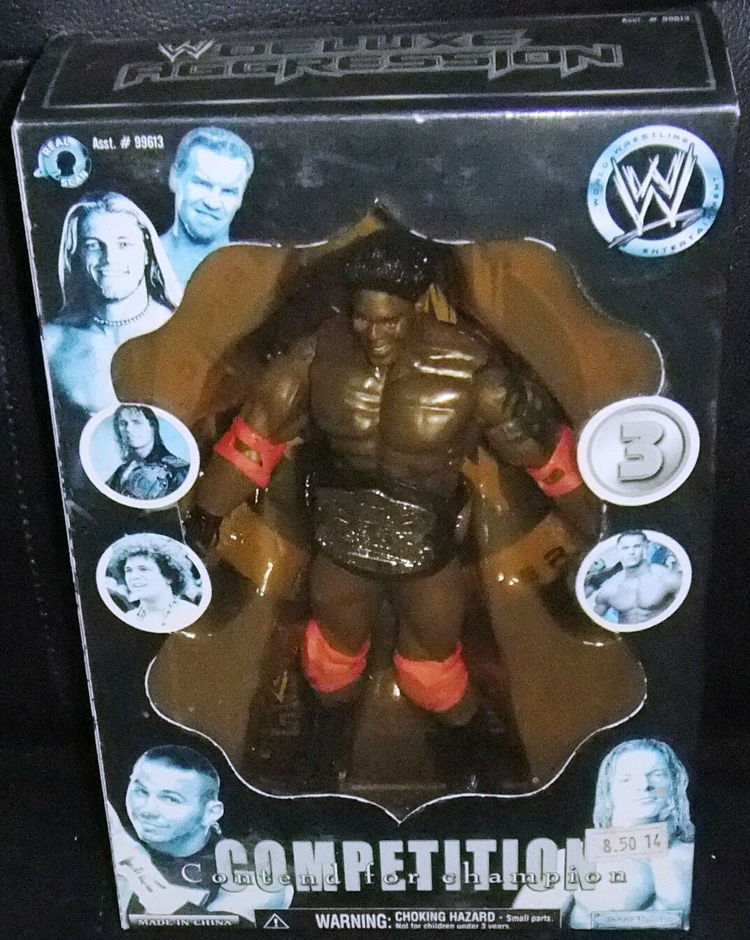 Competition Contend For Champion Action  3 Figure WWE Jakks Wrestler Rare 2005