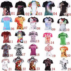 New Women Short Sleeve Cycling Jersey Bike Clothing Bicycle Sport Top Team Shirt