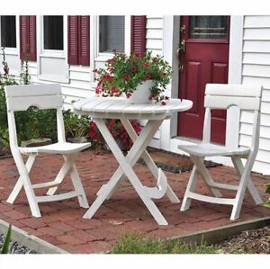 Image Is Loading Lightweight 3 Piece Quik Fold Patio Cafe Set