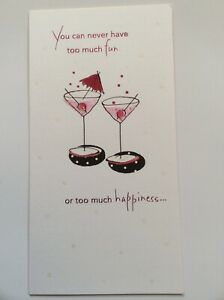 American Greetings Double Martini Birthday Card; Sustainable Paper, USA Made