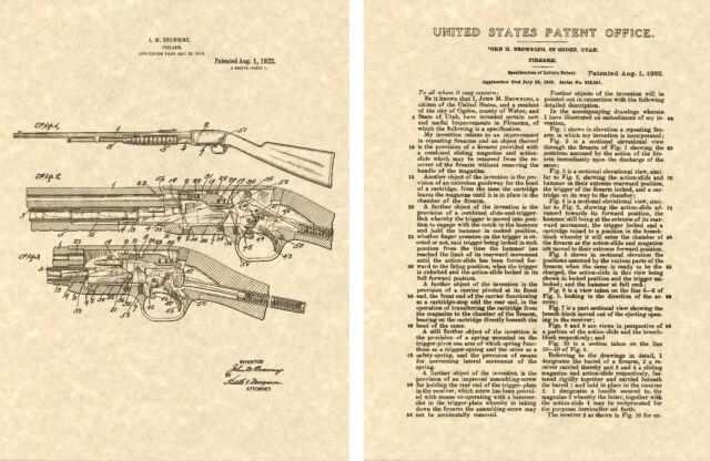 Browning Shot Gun US PATENT Art Print READY TO FRAME STEVENS 520 PUMP SHOTGUN