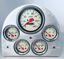 1953 FORD CAR 5 GAUGE CLUSTER VEETHREE WHITE