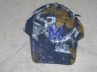 Mothwing Gameday Hat- Memphis - Navy, Brown & White Camo - Frayed Bill